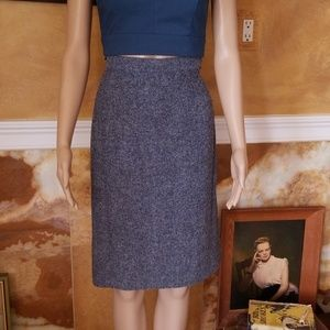 Rare Vtg 40s 50s Vera Maxwell Pencil  Skirt